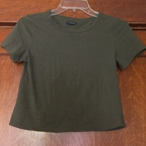 Wild Fable Small olive green cropped t shirt